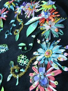 JessicaGrady.co.uk Florals mixed media embroidery