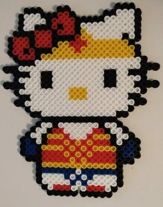 39d694f8 Hello Kitty Super Hero Perler Bead Ornaments