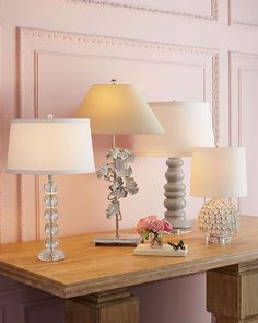 Sophia Stacked Crystal Lamp