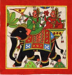 Mughal Paintings, Persian Miniatures, Rajasthani art and other fine Indian paintings for sale at the best value and selection. Mughal Paintings, Indian Paintings, Paintings For Sale, Elephant Sketch, Elephant Wall Art, Phad Painting, Rajasthani Art, Indian Folk Art, Ganesha