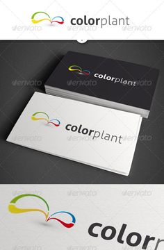 Color Plant Abstract Logo by out00 Simple and colorful logo design in .ai nad .eps format. - CMYK - scalable - font used: http://www.fontsquirrel.com/fonts/Aller