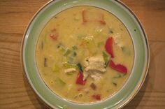 Mulligatawny suppe er en skøn suppe med kylling, karry, grøntsager og masser smag, se den lækre opskrift på Mulligatawny suppen her