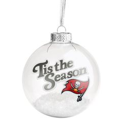 Tampa Bay Buccaneers 'Tis the Season Glass Ball Ornament - $9.99