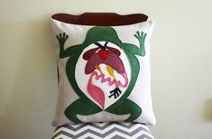 Science Diagram Pillow  Frog Dissection // by dirtsastudio on Etsy