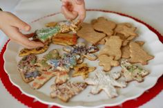Sprouted whole wheat Christmas cookies!