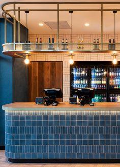 Nando's Pakenham | Tom Mark Henry Restaurant Counter, Cafe Counter, Cafe Restaurant, Restaurant Design, Food Counter, Commercial Interior Design, Commercial Interiors, Bar Counter Design, Mark Henry