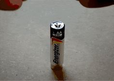 Neat trick with a battery and a piece of wire