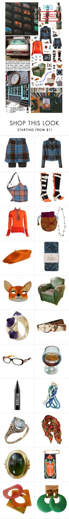 """""""Dame Vivienne Westwood is your only vintage punk unique way from the UK to Japan"""" by nothingisnormal ❤ liked on Polyvore featuring Vivienne Westwood Anglomania, Vivienne Westwood, Anzie, Anna Sui, Jade Jagger, Ardency Inn, LA77, Yves Saint Laurent, Kenneth Jay Lane and modern"""