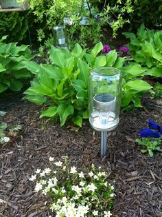 Great idea of Solar  powered mason jar lights