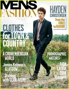 Hayden Christensen Covers 'Men's Fashion' Fall 2013 Issue with new RW&CO. collaboration