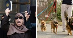 """Muslims DEMAND Locals Don't Walk Dogs In Public – Violation Of Sharia And """"DISRESPECTS"""" Them"""