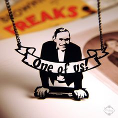 Johnny Eck Circus Sideshow Freaks necklace in black stainless steel    Want - Marillion fans are known as Freaks because we adopted the label, and also because of the film, samples of which were used in one of their songs.
