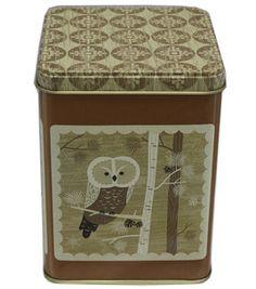 Square Tin Large- Owl: Textiles & Housewares: Christmas Decor: holiday & party: Shop | Joann.com