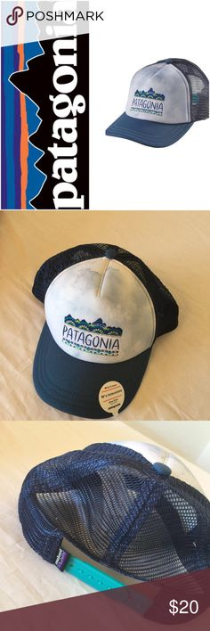 Patagonia, womens, femme fitz roy hat, nwt Great interstate hat by patagonia, in glass blue, nwt, womens.. the femme fitz royno trades. Stay comfortable on warm days wearing the Patagonia Femme Fitz Roy Interstate Hat. Its polyester foam front and mesh back construction keeps you at ease, while the COOLMAX® headband wicks away moisture.  100% Polyester crown and 100% organic cotton canvas bill 100% Polyester mesh panel COOLMAX® headband Adjustable snap closure Mid-crown, five-panel design…