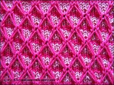 Two-color Diamond Quilting Stitch Pattern