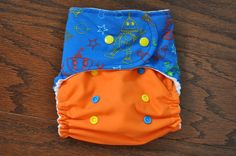 Oh Robots Pocket Cloth Diaper  OS by BrilliantBums on Etsy, $14.50