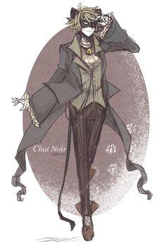 Chat Noir Alternate by piikoarts.deviantart.com on @DeviantArt