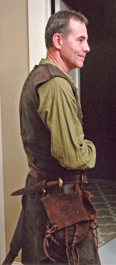 Medieval Woodsman outfit 2015. Right side view.