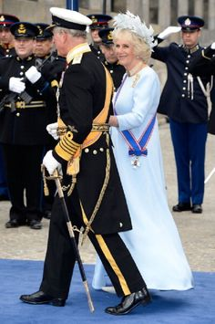 Prince Charles, Prince of Wales and Camilla, Duchess of Cornwall depart to return to the Royal Palace after the Inauguration of King Willem Alexander of the Netherlands