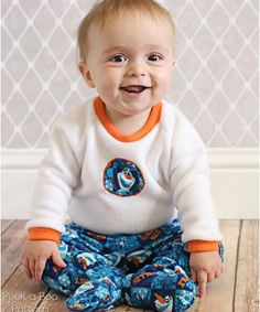 Classic Fleece Footed Pajamas sewing pattern by Peek-a-Boo Pattern Shop – Go To Patterns
