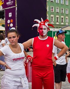 Before the game of Poland vs Czechs (0:1), the sunny day, the hope, the water