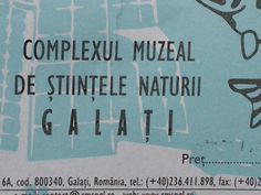"""Complexul Muzeal de Științele Naturii """"Răsvan Angheluță"""" în Galaţi, Galaţi"""