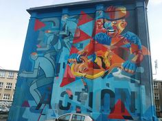 na tyłach piątego liceum - #graffiti #lublin #mural #streetart #lubelski