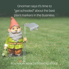 Here's why Gnorman only uses Kincaid markers for Identifying Flowers in his garden. Plant Markers, Garden Gifts, Gardening Tips, Words, Plants, How To Make, Check, Flowers, Flora