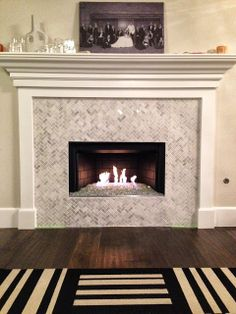 Marble Fireplace Surround But Without Raised Hearth