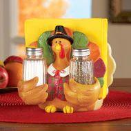 Thanksgiving Pilgrim Turkey Salt and Pepper Set - 34920