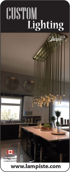 Since 1972 we build amazing custom lighting commercial institutional and resid Best Kitchen Lighting, Kitchen Island Lighting, Kitchen Lighting Fixtures, Pendant Light Fixtures, Stair Lighting, Overhead Lighting, Lighting Ideas, Commercial Stairs, Gooseneck Lighting