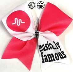 Bows by April - Musical.ly Famous Sublimated Cheer Bow, $15.00 (http://www.bowsbyapril.com/musical-ly-famous-sublimated-cheer-bow/)