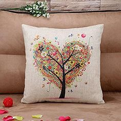 Take a look:  Usstore Flax Pillow Square Pillow Throw Pillow Cover Cases Decorative Cushion
