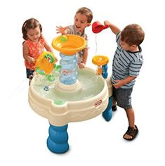 Summer is here, let your children play outside and enjoy the warmth of the sun. Little Tikes Spiralin' Seas Waterpark Play Table is a nice water play table for the summer, it helps to develop motor skills by playing with all those cute characters. Best Water Table, Water Table Toy, Water Tables, Sand Table, Sand Toys, Water Toys, Water Play, Little Tikes, Outdoor Toys