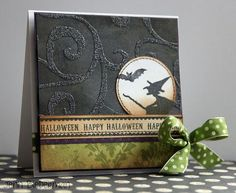 Jenn Biederman - Halloween Flight Halloween Sentiment Card