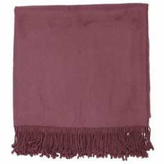 """With its bamboo and cotton design, this cozy throw is the perfect addition to your bed or favorite reading nook.       Product: Throw    Construction Material: Bamboo and cotton    Color: Plum Dimensions: 50"""" x 67"""""""
