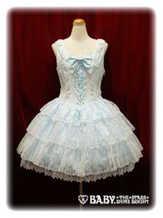 Merveille JSK in sax http://hellolace.net/wardrobe/baby-the-stars-shine-bright/type/jsk/item/166/