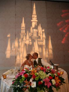 Lighting decor at a Disney wedding reception - Wedding Spotlight: Erika + Kyle | Magical Day Weddings | A Wedding Atlas Fan Site for Disney Weddings