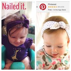 The adventurous ones like to break out of the mold and try their own style. #pinterestfail