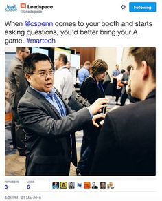 Photo credit: David B. Thomas Almost every part of the #MarTech conference was impressive this year, a tribute to Scott Brinker's leadership in the MarTech space. The show floor was packed with attendees. The presentations were lively and insightful. The WiFi more or less worked. There was only one broken part: the vendors. Specifically, the [...]