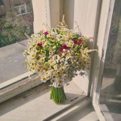 svatba svatební kytice květina kytka květ originální jedinečná netradiční nevěsta luční heřmánek barevná