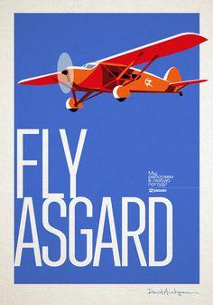 Asgard Branding Agency. Advertising poster. Рекламный постер Fly Asgard агентства Asgard Branding.