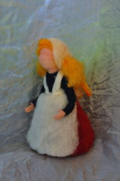 Needle felted Waldorf Thanksgiving doll- wool standing doll-needle felt by Daria Lvovsky