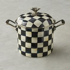 MacKenzie-Childs Courtly Check Stock Pot #williamssonoma