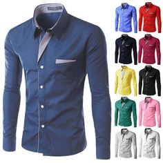 51ecb402fe161b Brand 2017 Dress Shirts Mens Striped Shirt Slim Fit Chemise Homme Long  sleeve Men Shirt Heren Hemden Slim Camisa Masculina M 4XL-in Casual Shirts  from Men's ...