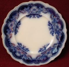 Johnson Brothers China Oregon Flow Blue Gold Accent Pattern Salad Plate | eBay