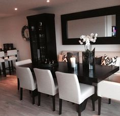 Black and white #home #dinning #room