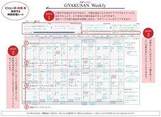 Amazon | 逆算ウィークリー GYAKUSAN Weekly 24時間・バーチカル 週間シート | 手帳 | 文房具・オフィス用品