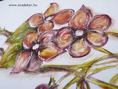 Festett virágok - Anna névreszóló tömörfenyő indásvirágos-manós mintával festett fehér gyerekágy. Fotó azonosító: AGYANN28 Anna, Vegetables, Vegetable Recipes