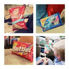 This one time on Route 66 ... I ate a whole bag of wavy potato chips and started in on the Oreo's! The skittles will just have to wait until the kids pull out the PB. And in the end it was all for ...